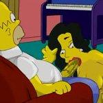 Simpsons threesome sex